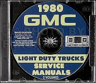 1980 GMC TRUCK & PICKUP REPAIR SHOP & OVERHAUL MANUAL For 1500, 2500, 3500, C, K, G, P, STX, Gaucho, Gypsy, Vandura, van chassis, hi-cube, Value Van, forward control chassis, stepvan