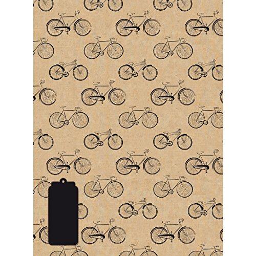 Radl - Vintage Bicycle - Geschenkpapier mit Anhänger