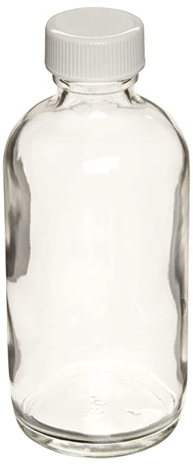 Capacity 8oz With 24-400 White Polypropylene Poly-Vinyl Lined Screw Cap Case Of 12 Wheaton W216803 Boston Round Bottle Diameter 60mm x 136mm Clear Glass