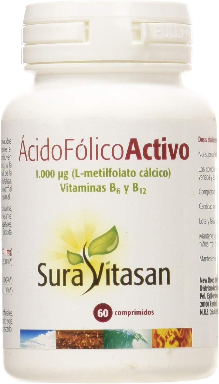 Sura Vitasan Acido Fólico Activo - 60 Cápsulas