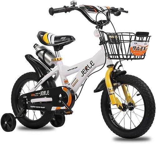 compras en linea Bicicletas para Niños, bebé bebé bebé de 14 16 18 Pulgadas bebé 2-3-4-6-10 años de Edad Cochecito de bebé Bicicleta (Color   blanco amarillo, Tamaño   18 Inches)  descuento de ventas en línea