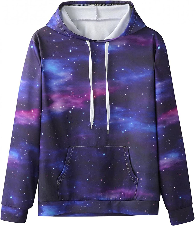 Qsctys Men's Sweatshirts Hoodie Long Sleeves 3D Funny Graphic Print Sweatshirt Pullover Fashion Hoodies Lightweight Tall