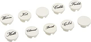 GROHE AMERICA 45305000 Sinfonia Hot/Cold Buttons