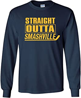 The Silo Long Sleeve Navy Nashville Straight Outta Smashville T-Shirt