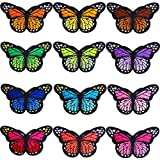 Hicdaw 36 Pcs 3' Big Butterfly Iron on Patches Embroidery Applique Patches for DIY Decor, Jeans, Jackets, Kid's Clothing, Arts Craft Sew Making