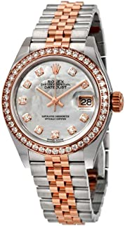 Lady Datejust Mother of Pearl Steel and 18K Everose Gold Diamond Jubilee Watch 279381MDJ