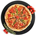 """12.9"""" Pro Non-stick Ceramic Pizza Stone - Thermal Shock Resistant 1472?, Easy Clean Durable Certified Safe, Pizza Pan Grill Oven BBQ Bread Baking Stone for Gas, Housewarming Gifts"""