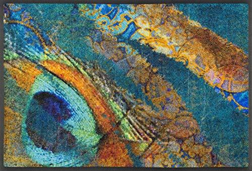 wash + dry Paillasson 100 % Polyamide Bleu 50 x 75 cm