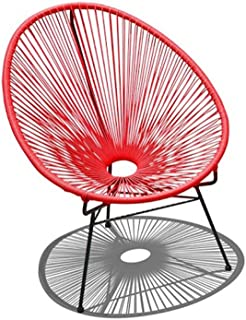 Harmonia Living HL-ACA-LC-CAB Acapulco Lounge Chair, Candy Apple Red/Black
