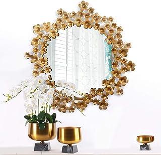 Daily Necessities Mirror European 3D Modeling Bathroom Mirror Iron Antique 58cm*59CM Wall Decorative Mirror Creative Home Makeup Mirror Mysterious Waterproof Mirror