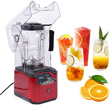 Countertop Blender Juicer Machines Smoothie Cereals Juice Extractor Mixer 2200W Heavy-duty Commercial Blender Smart Touch Scr