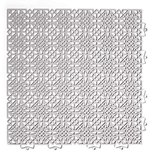 andiamo Kunststofffliese Terra Sol 38x38 cm, Bodenfliese mit Klicksystem, belastbar, Farbe:Hellgrau, Größe:Fliese - Set 35 Stück (5m²)