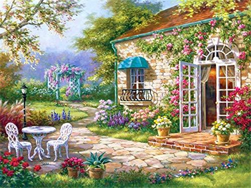 5d DIY kit de bordado de diamantes punto de cruz jardín casa mosaico paisaje decoración del hogar pintura de diamantes A1 40x50cm