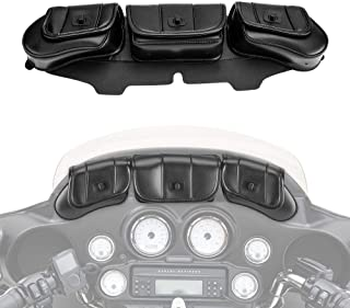 Motorcycle Windshield Bag Pouch for Street Glide Electra Glide Windshield Bags 1996-2013