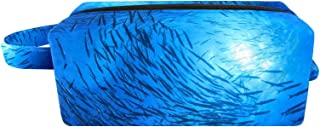 Cosmetic Bag for Women, Barracuda Fish Underwater, Makeup Bags with Handle Accessories Organizer Gifts