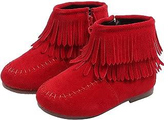 Sunward 1-6 Years Kids Baby Infant Girls Boys Winter Fringe Tassel Boots Snow Boots Shoes