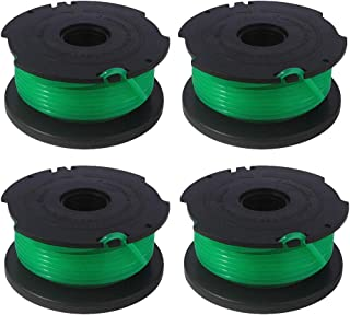 youeneom Weed Eater Replacement Spools Compatible with Black Decker SF-080 GH3000 LST540 String Trimmer, 0.080 inch Auto-Feed, Cordless Trimmers Twist Single Line (Pack 4)