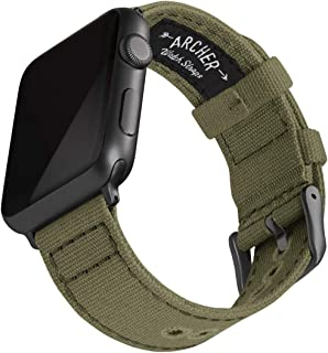 Archer Watch Straps | Cinturini Ricambio di Tela per Apple Watch, Uomini e Donne | Vari Colori, 38/40mm, 42/44mm