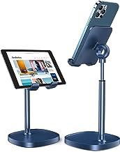 پایه تلفن همراه ، پایه قابل تنظیم LISEN تلفن برای میز ، میز نگهدارنده تلفن ضخیم مورد مناسب برای میز ، سازگار با تمام تلفن های همراه ، آیفون ، سوییچ ، آیپد ، تبلت (4-10 اینچ) - آبی