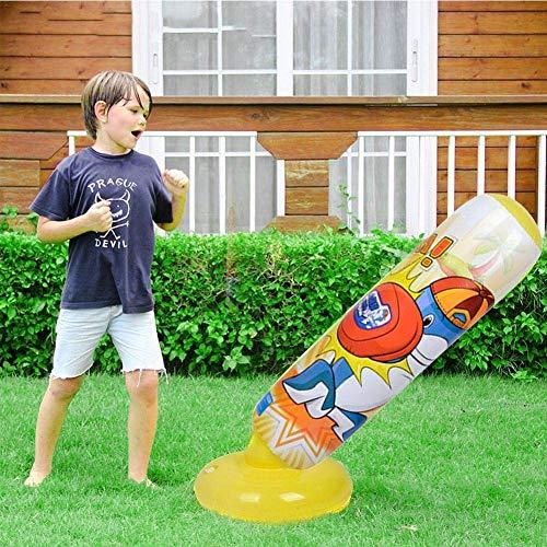 FENGLI Saco de boxeo inflable para niños de 47 pulgadas, juguete de...