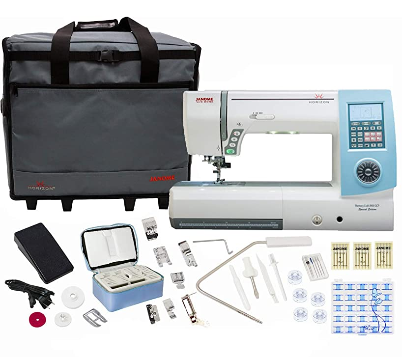 Janome Horizon Memory Craft 8900QCP Special Edition Sewing and Quilting Machine with Bundle