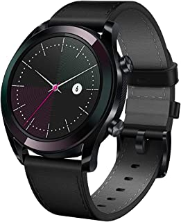 """HUAWEI Watch GT Elegant Smartwatch with 1.2"""" AMOLED Touchscreen, 1-Week Battery Life, 24/7 Continuous Heart Rate Tracking, Multiple Outdoor and Indoor Activities, 5ATM Waterproof, Black"""