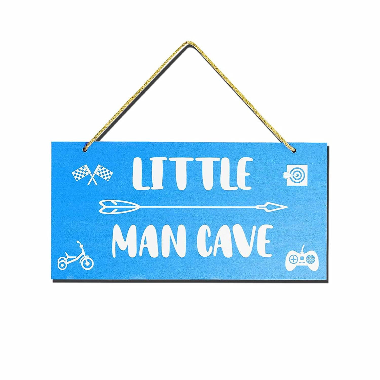 Little Man Cave - Toddler Boy Room Decor x 6