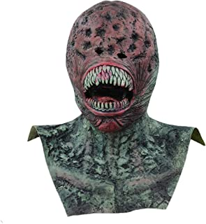 Alien Latex Masks Halloween Mask Props Realistic Predator Terror Thriller Prank Scary Demon Parasite Vampire Realista Mascara Masquerade and Role Playing