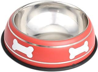 HOUZE Pet Steel Bowl, 22cm, Red
