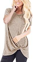 TnaIolral Women Tops Loose Sleeveless O-Neck Solid T-Shirt Blouse