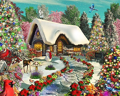 Snowy Delight Jigsaw Puzzle 1000 Puzzle by Vermont Christmas Company