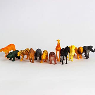 Wild Animals Set, Educational Toy For Kids, Multicolor, With 12 Animals