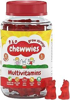Multivitaminer Tuggbara gummier Veganska, sockerfria, glutenfria, halal för vuxna och barn, packade med viktiga vitaminer ...