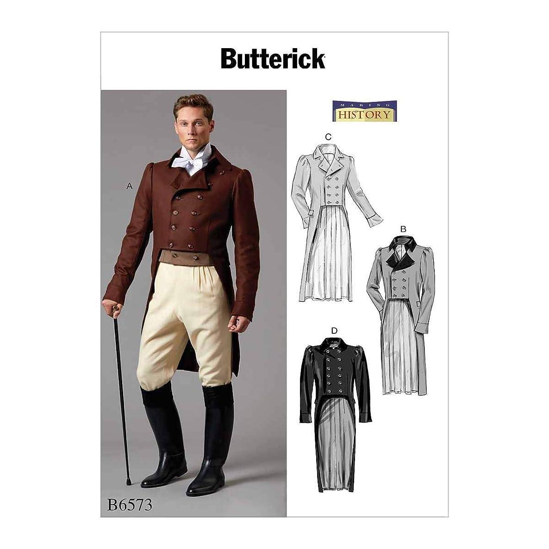 Butterick Patterns B6573MWW Men's Historical Costume Jacket Sewing Pattern, Sizes 38-44
