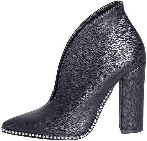 Chaussures Femme en Cuir véritable Taille Taille Taille Nombre 36avec Micro Rivets Talon 10cm Made in  azalées étude créations abn-09Excellente qualité 'élégant  vente pas cher