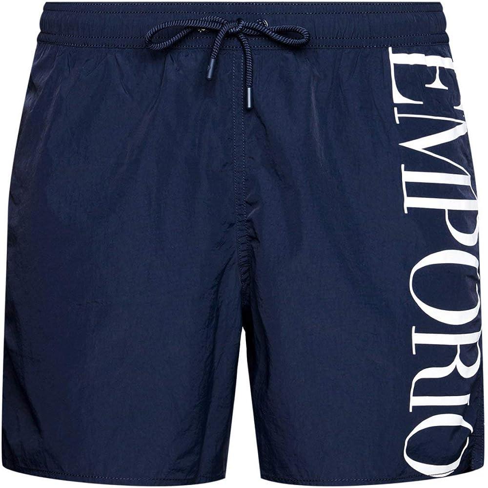 Emporio armani swimwear, boxer eco conscious new basics, costume da bagno per uomo,poliestere 100% 211740 1P414 06935