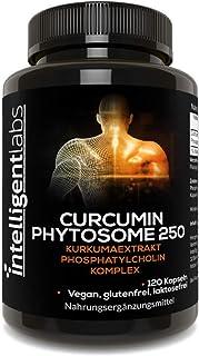Intelligent Labs 250MG Meriva kurkumin-fytosom, 2900% bättre absorberat än vanligt gurkmeja kurkumin, 100% sojafritt, 120 ...