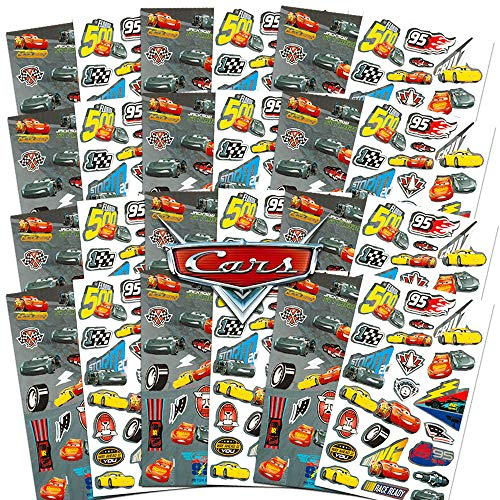 Disney Cars Stickers Party Favors Bundle Pack ~ 24 Cars Sticker Sheets ~ Over 575 Stickers (Disney Cars Party Supplies)