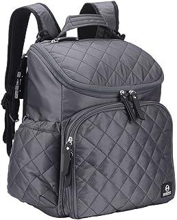 尿布袋多功能防水旅行背包婴儿护理包 灰色
