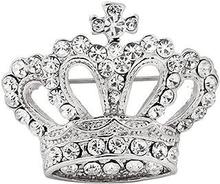 Boho Victoria King Queen Crown Brooch Pin Silver Wedding Xmas