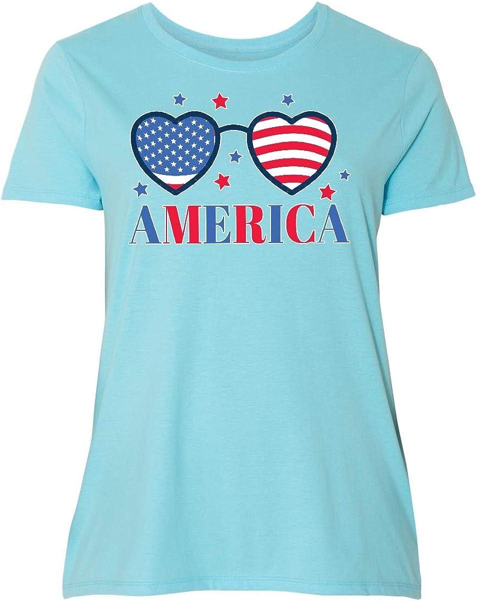 inktastic Memorial Day America Branded goods Heat Shaped Translated Plu Women's Sunglasse