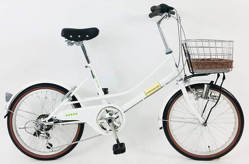 財団ぐるぐる学士C.Dream(シードリーム) スキット SK06 20インチ自転車 小径車 ホワイト 100%組立済み発送
