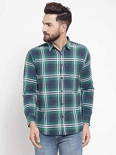 MAFATLAL Men's Checkered Long Sleeve's Casual Shirt