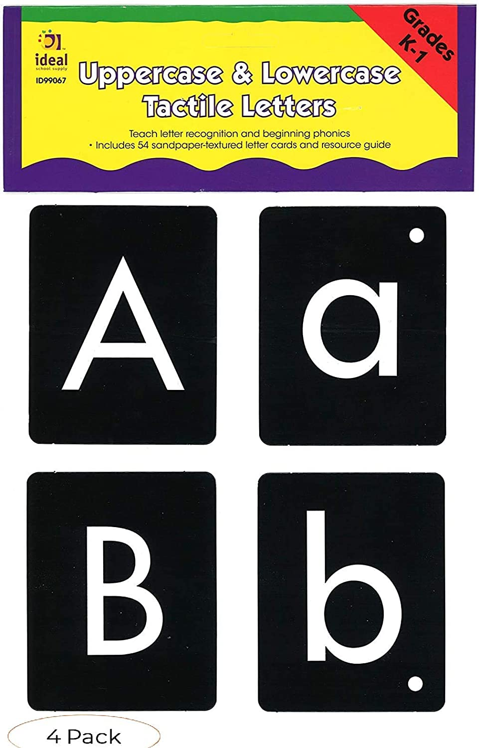 Ideal School Supply Tactile Genuine Cheap bargain Pack Kit Four Letters