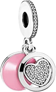 Pandora Women's Heart Dangle Charm - Silver Plated