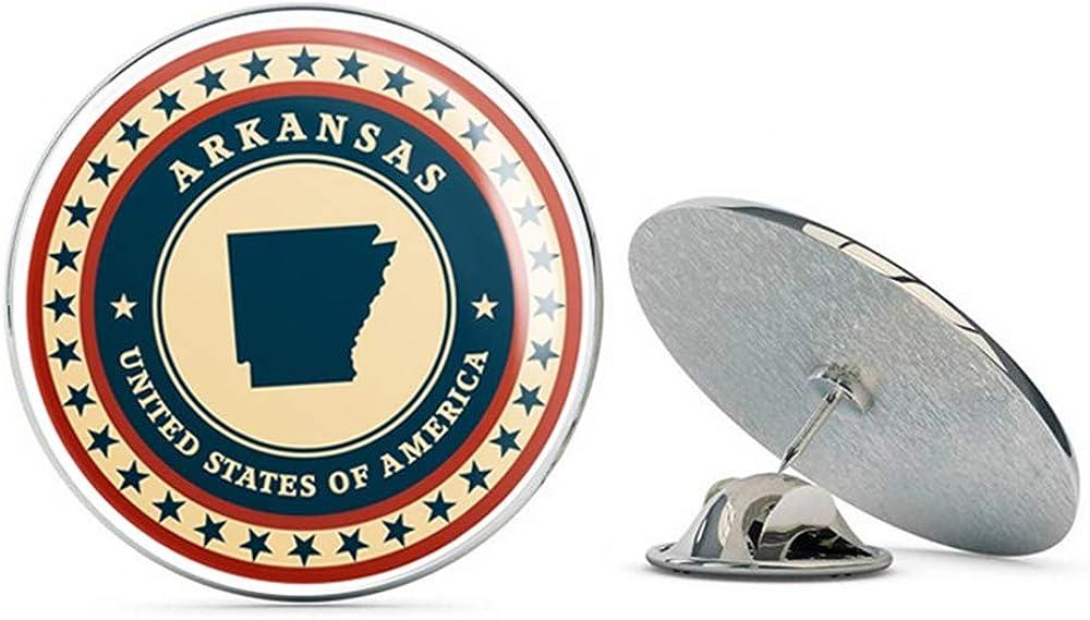 Arkansas USA Round Metal 0.75
