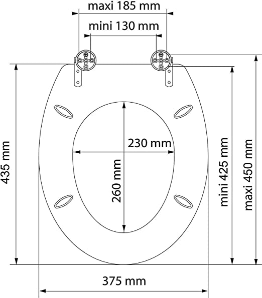 Kleebau Bavaria Abattant de WC en bois avec syst/ème dabaissement automatique