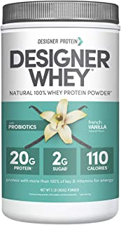 Designer Whey Protein Powder, French Vanilla, 2 Lb, Non GMO, Made in USA
