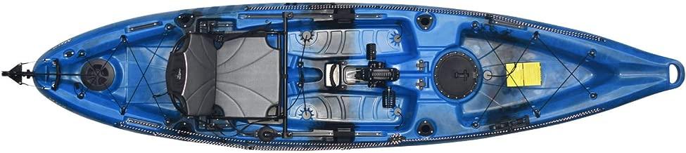 Riot Mako 12 Angler Sit-on-Top Kayak with Impulse Pedal Drive, 12', Neptune Blue/Black