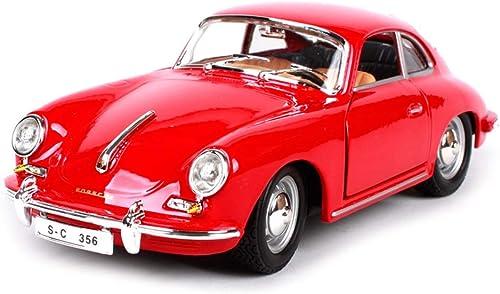 LICCC Modellauto Porsche 356B Coupe1  24 Simulation Druckguss Legierung Retro Spielzeug Modellauto Kinder Geschenke